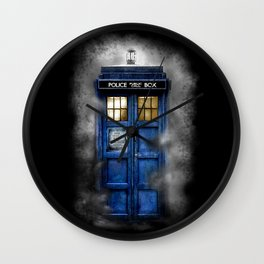 Haunted Halloween Blue phone Box iPhone 4 4s 5 5c 6, pillow case, mugs and tshirt Wall Clock