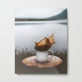 Splash of Coffee Metal Print
