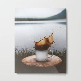 Splash of Coffee Metal Print