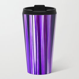 Royal Purple, Lilac and Silver Stripy Pattern Travel Mug
