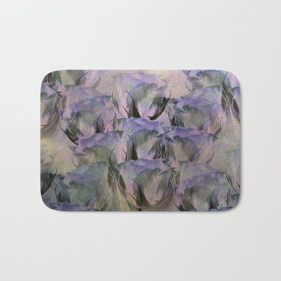 Glamorous Lavender Roses Abstract Bath Mat