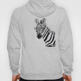 Zebra with glasses, black and white Hoody