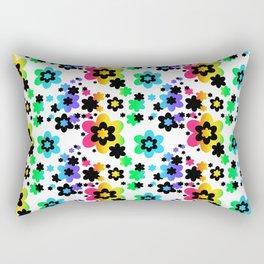 Rainbow Floral Abstract Flower Rectangular Pillow