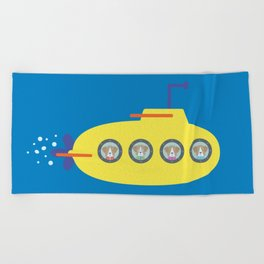 The Beagles - Yellow Submarine Beach Towel