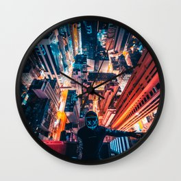 Extreme Nightscape Wall Clock