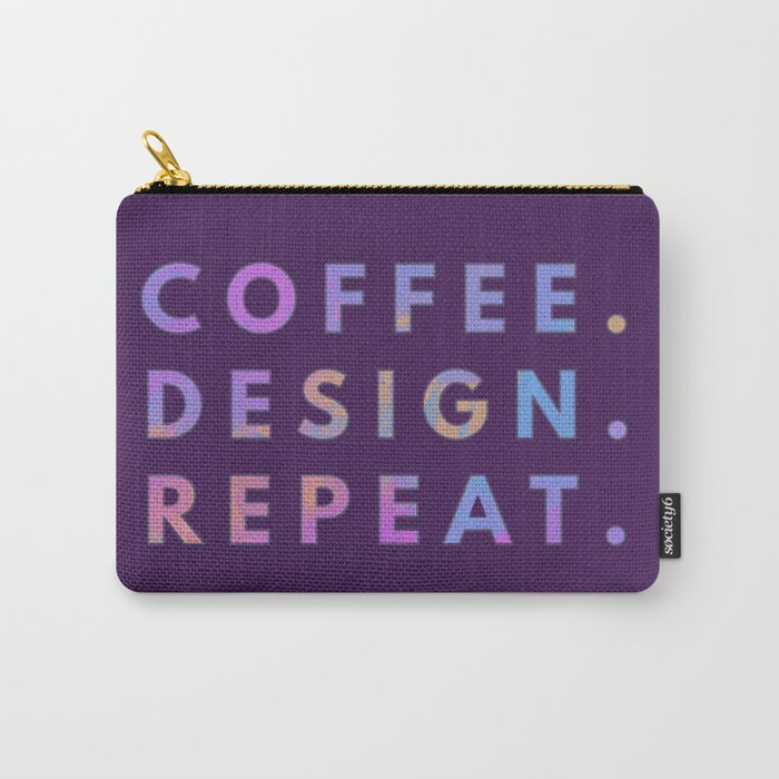 Coffee Design Repeat Carry-All Pouch