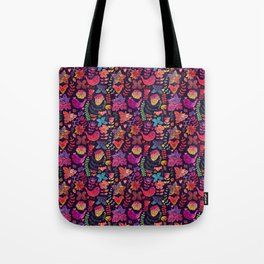Watercolor birds and flowers Tote Bag