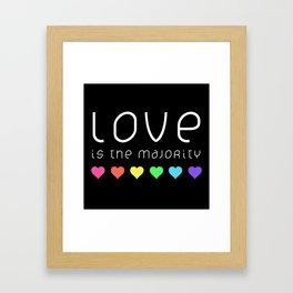Love Is The Majority (Color) Framed Art Print