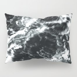 Waves - Black and White Abstract Pillow Sham