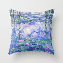Claude Monet Water Lilies French Impressionist Art Throw Pillow