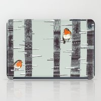 rug iPad Cases featuring Robin Trees by Sandra Dieckmann