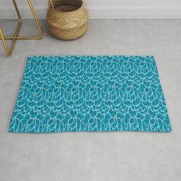Rippled water pattern - shades of mosaic blue  Rug