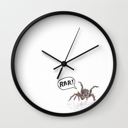 """Scary"" Spider in Watercolor Wall Clock"