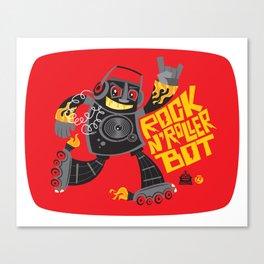 Rock n' Roller Bot Canvas Print