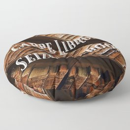 Carpe Librum Seize the Book Floor Pillow
