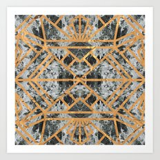 Marble Deco Shade Two Art Print