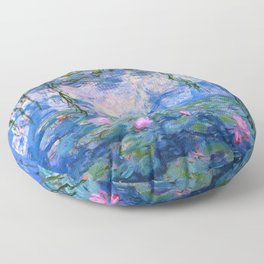 Water Lilies Monet Floor Pillow