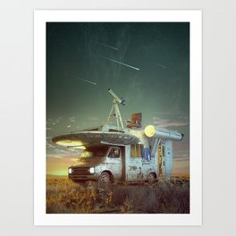 To boldly go where no man has gone before Art Print
