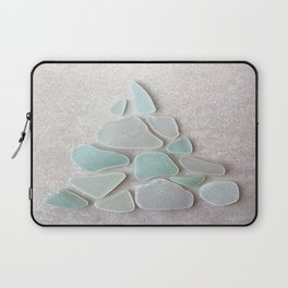 Sea Foam Sea Glass Christmas Tree #Christmas #seaglass Laptop Sleeve