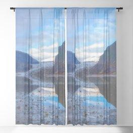 Glacier Mendenhall Juneau, Alaska Sheer Curtain