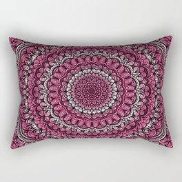 Pink colors mandala Sophisticated ornament Rectangular Pillow