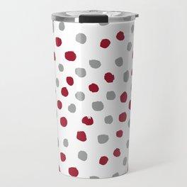 University of Alabama colors dots polka dots minimal pattern college football sports Travel Mug