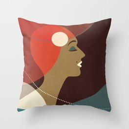 Venn Deco (Part V) Throw Pillow