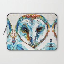 Colorful Barn Owl Art - Birds by Sharon Cummings Laptop Sleeve