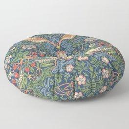 Strawberry Thief - Vintage William Morris Bird Pattern Floor Pillow
