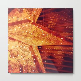 Star, traditional Christms windows decortion in Sweden Metal Print