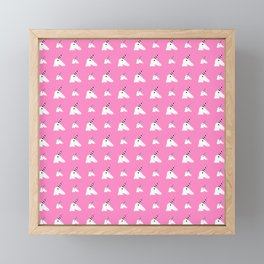 unicorn 1- pink Framed Mini Art Print