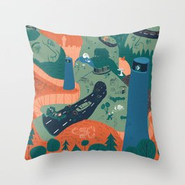 Jerusalem Poster Throw Pillow