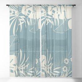 Tropical pattern 047 Sheer Curtain