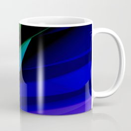 Geo Green and Blue Coffee Mug
