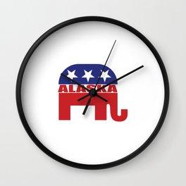 Alaska Republican Elephant Wall Clock