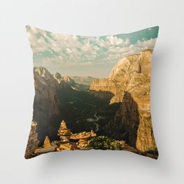 Zion Mornings - National Parks Nature Photography Throw Pillow