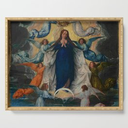 Michel Sittow – the assumption of the virgin Serving Tray