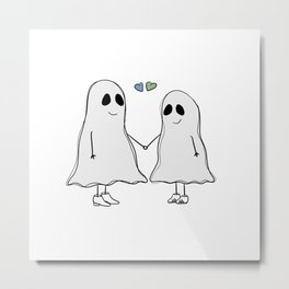 Two Ghosts Metal Print