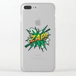 Comic Book ZAP! Clear iPhone Case