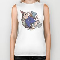 over the garden wall Biker Tanks featuring Over the garden wall by podborski