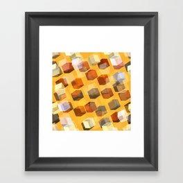 transparent cubes Framed Art Print