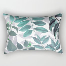 Cold Leaves Pattern Rectangular Pillow
