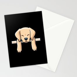 Cute Labrador dog puppy retro gift Stationery Cards
