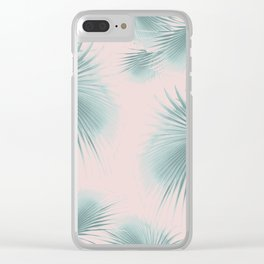 Fan Palm Leaves Paradise #6 #tropical #decor #art #society6 Clear iPhone Case