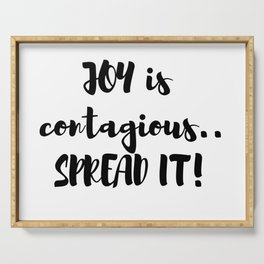 Joy Is Contagious! Serving Tray