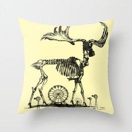Gas Mask Deer Throw Pillow
