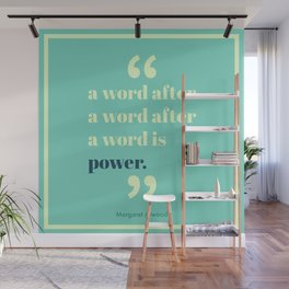A Word Is Power Wall Mural