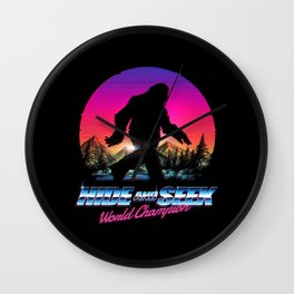 Hide And Seek World Champion Bigfoot is Real Wall Clock