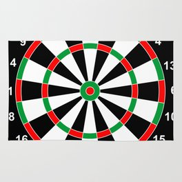 darts game board classic target  Rug