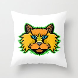 Selkirk Rex Cat Mascot Throw Pillow
